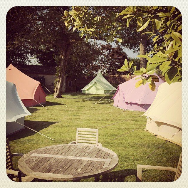 Mixed coloured Bel Tents