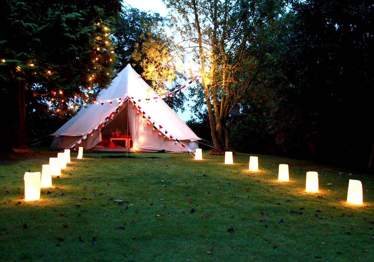 Coral Red Bell Tent