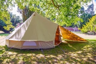 Sandstone Bell Tent with Triangle Tarp
