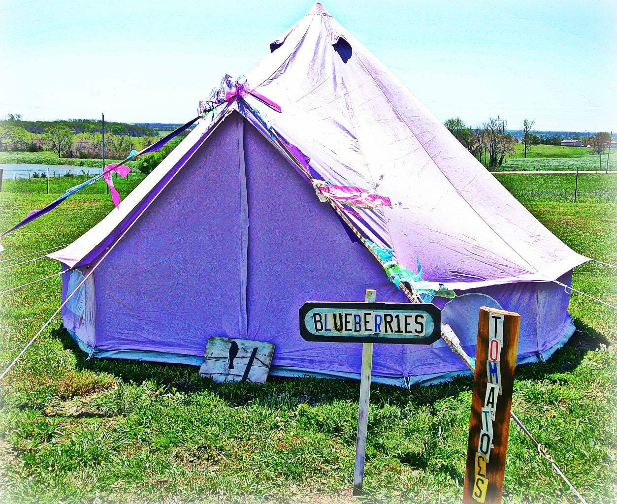 Pastel Lilac Bell Tent