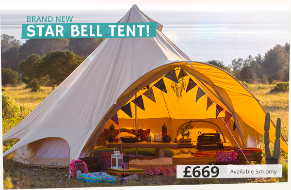 buy popular 894ac dd936 The Star Bell Tent Has Arrived!!! | Boutique Camping ...