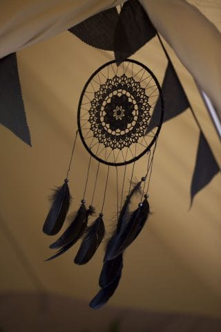 Black Bunting and Black Dreamcatcher