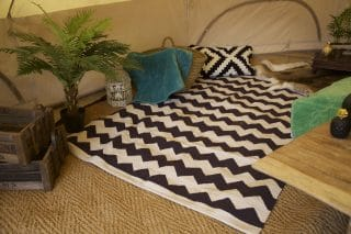 Zig Zag Kilam Rug and Cushions