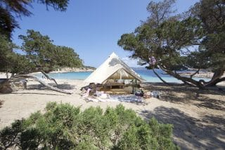 Sandstone Bell Tent by the Beach