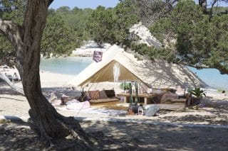 Sandstone Bell Tent on the Beach