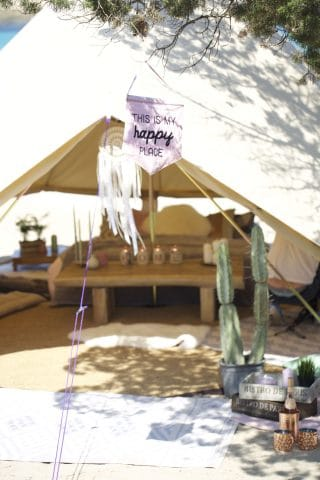Glamping on the Beach