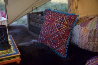 Suzani and Patchwork Cushions