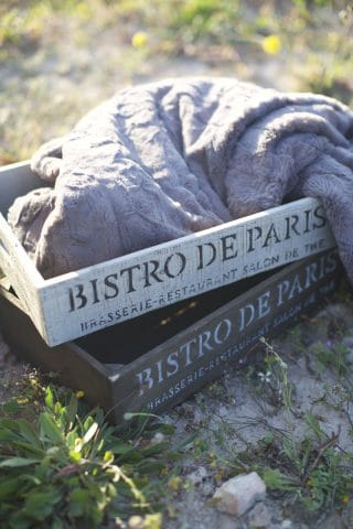 Bistro De Paris Crates and Velvet Quilted Throw