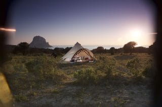 5m Star Bell Tent with an Ocean View