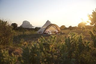Star Bell Tent by the Sunset