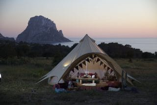 5m Star Bell Tent by the Sunset