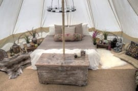 Sandstone Bell Tent - Furnished
