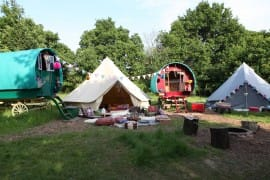 Sandstone Bell Tent and Oxford Canvas Bell Tent