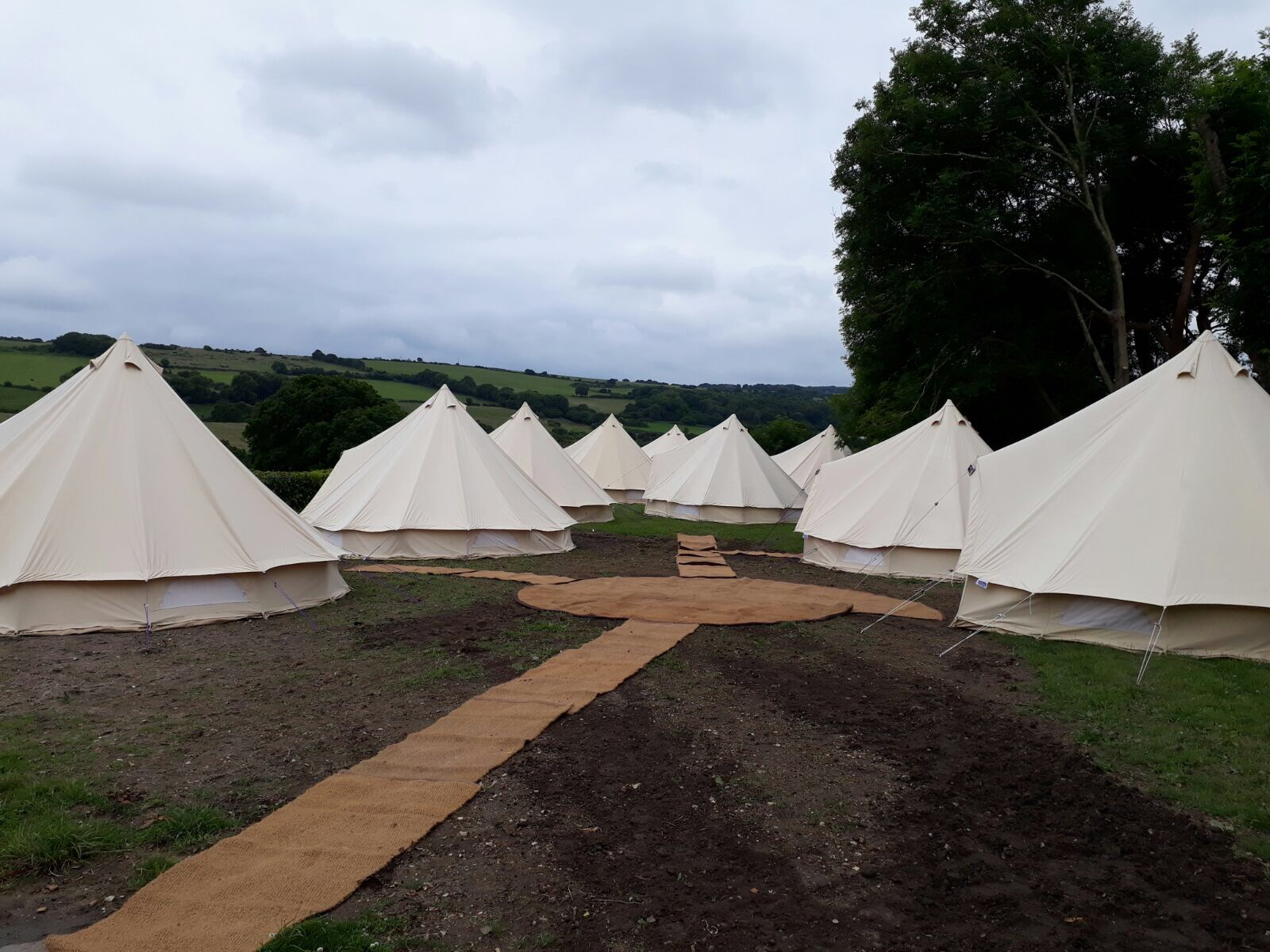 Various Cream Bell Tents