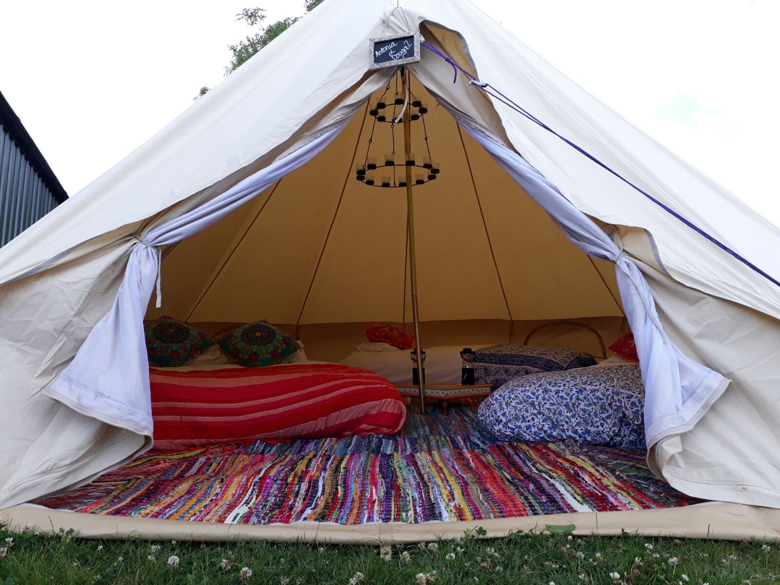 Furnished Sandstone Bell Tent