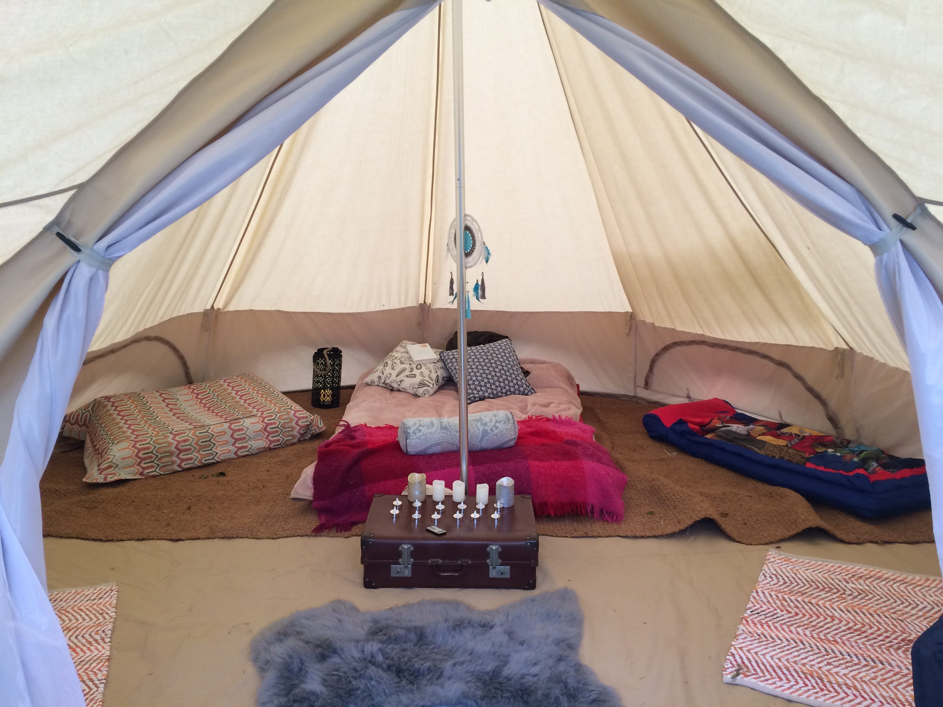 Inside of Star Bell Tent and Accessories