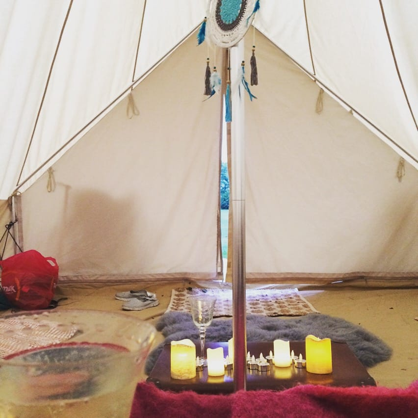 Interior of 5m Star Bell Tent with Accessories