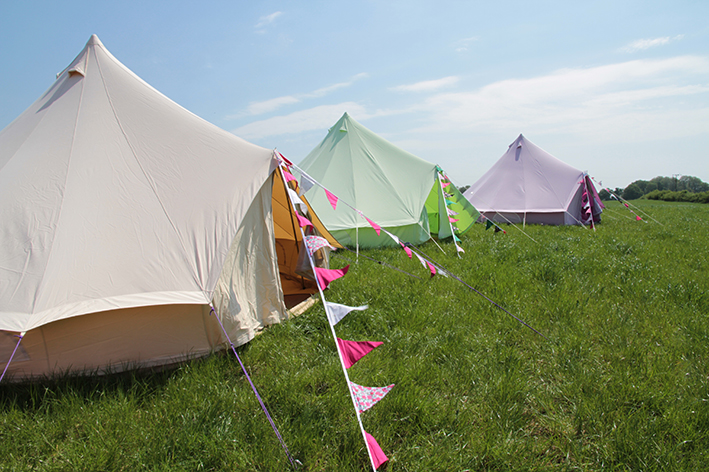 Fiesta Fields - Sandstone, Apple Green and Pastel Lilac Bell Tent