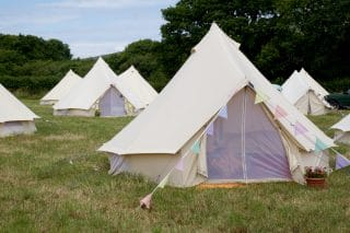 Cream Glamping Bell Tent