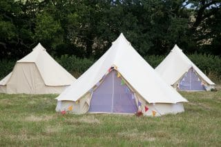 Cream Bell Tents