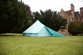 Sky Blue Bell Tent with Awning