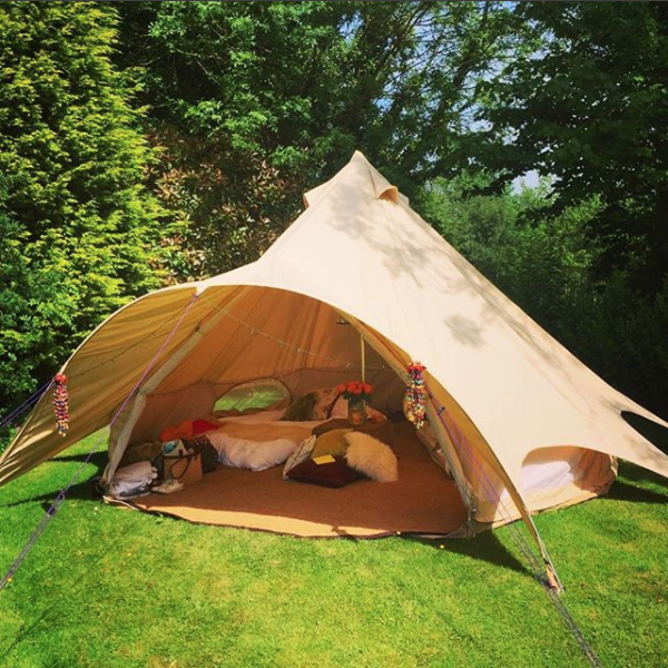 Our Star Bell Tent is perfect for glamping in the summer!