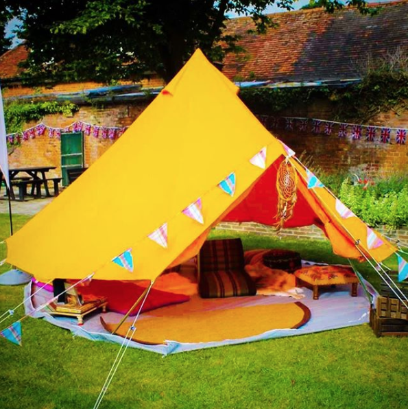Boutique Camping Tangerine Orange Bell Tent