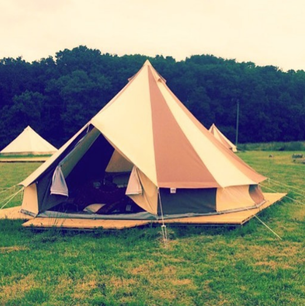 Our Cookies and Cream Bell Tent!