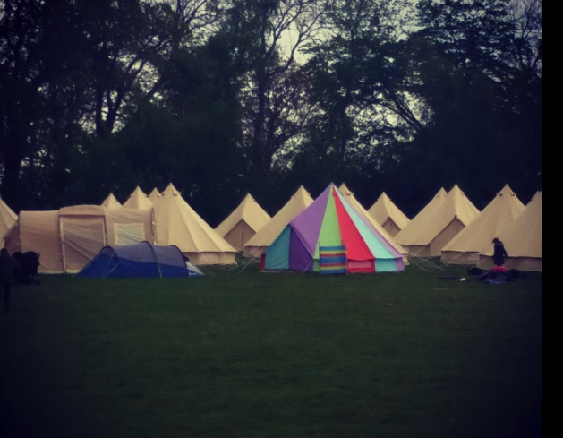 Sandstone Bell Tents & Rainbow Bell Tent