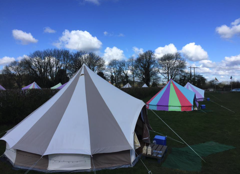 Patterned Bell Tents