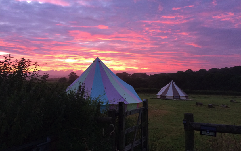 Our Rainbow Bell Tent and Cookies and Cream Bell Tent!
