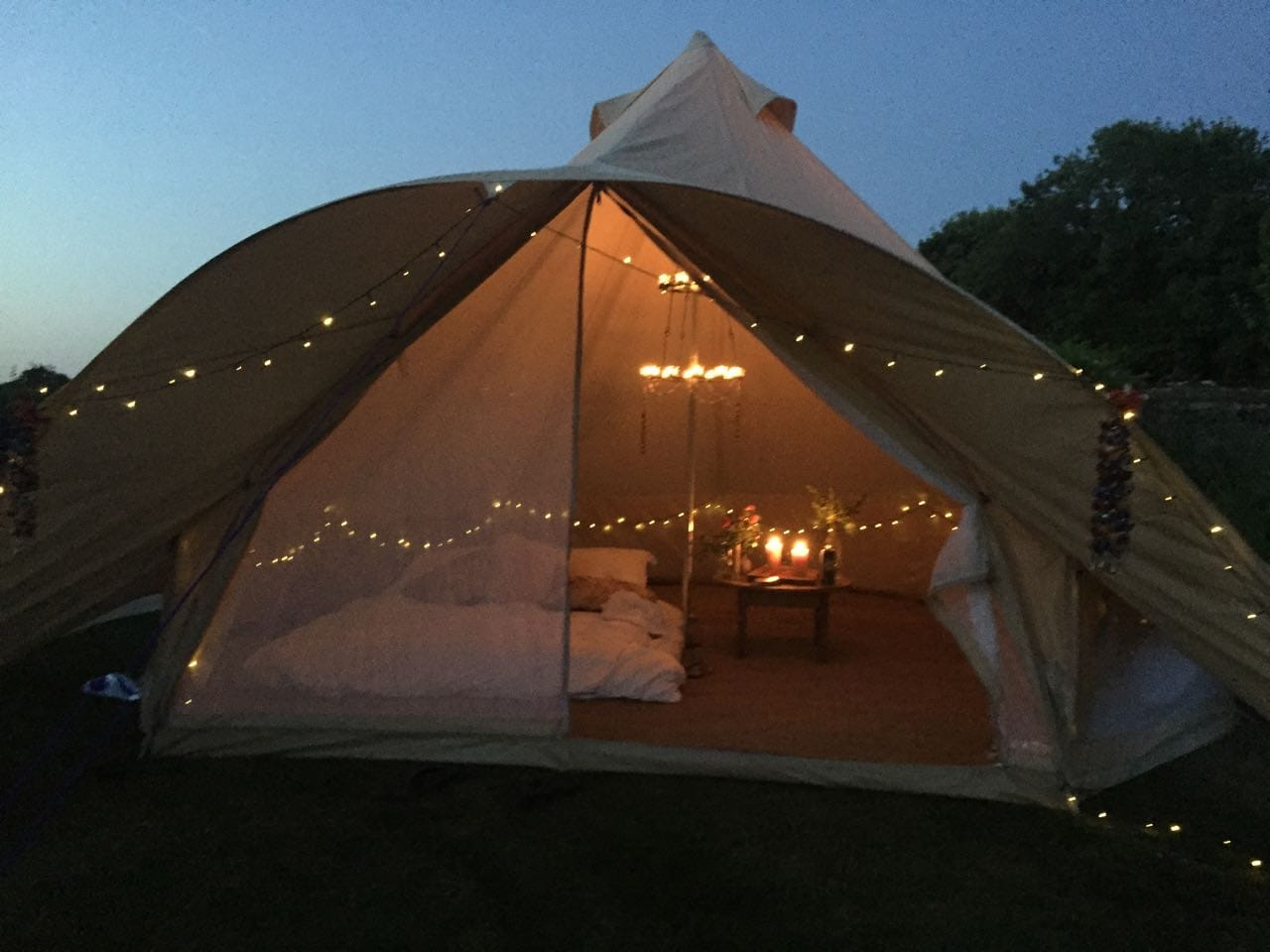 Star Bell Tent with Lights