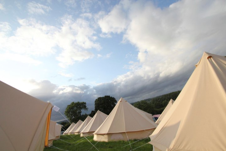 Various Bell Tents at a Festival