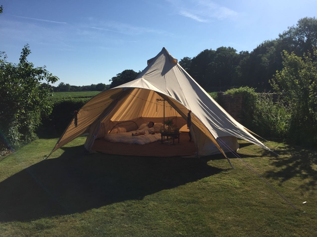 5m Star Bell Tent with Open Doorway