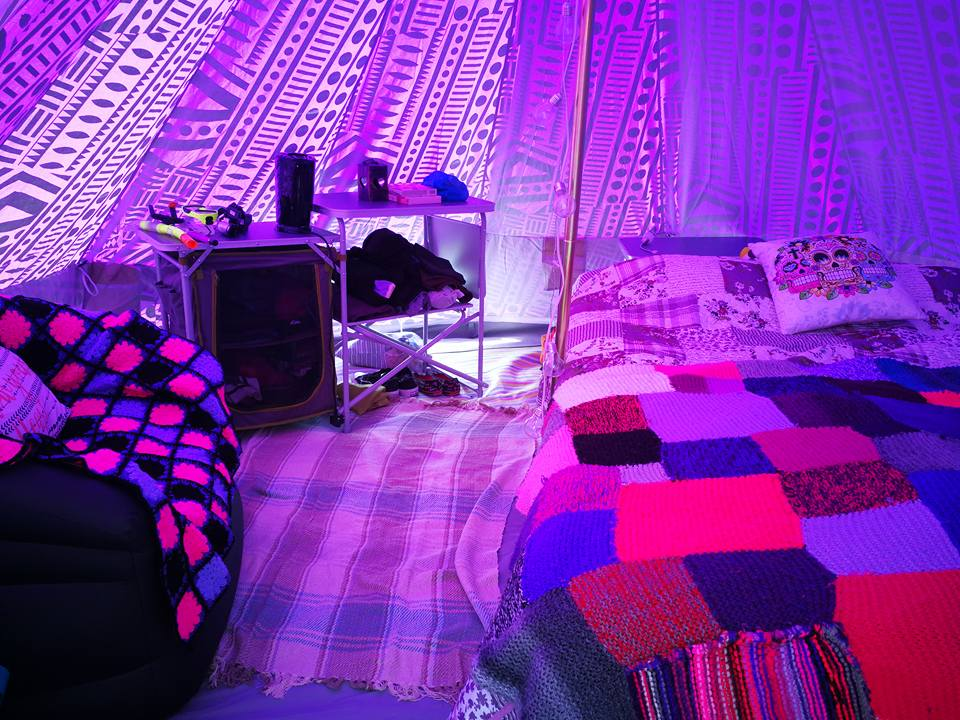 Purple Rain Bell Tent - Interior