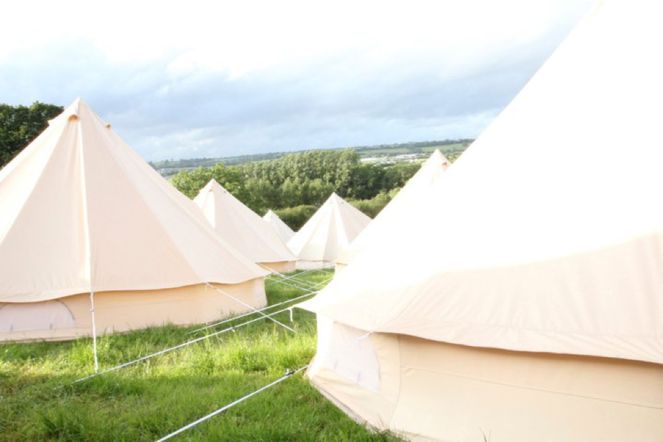 Sandstone Tents at a Festival