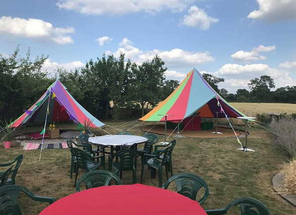 Our lovely Rainbow Bell Tents!