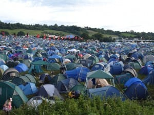 glastonbury camping