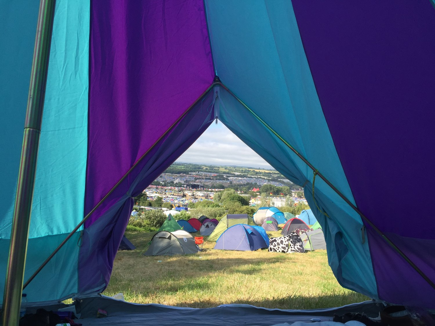 Glamping at Glastonbury