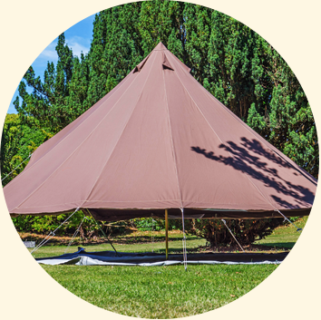 chocolate bell tents