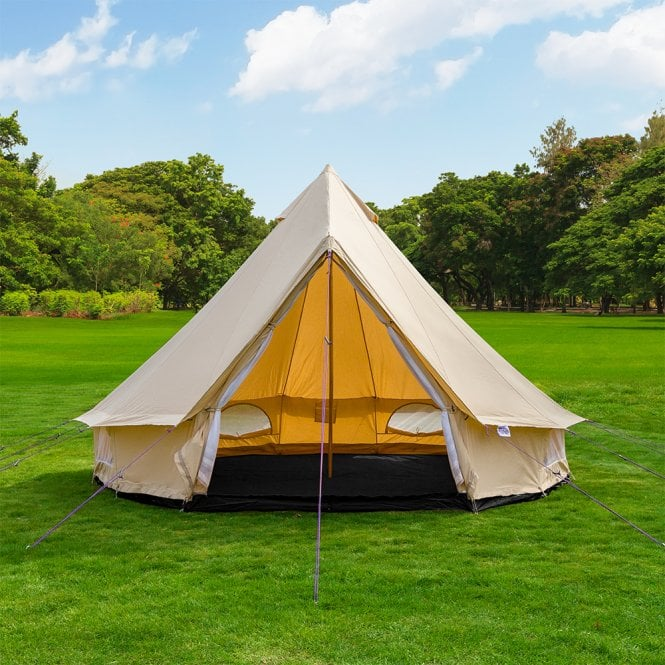 3m Lightweight Sandstone Canvas Bell Tent - Single Door