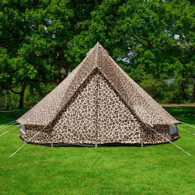 3m Weekender Polyester Bell Tent - Leopard Print