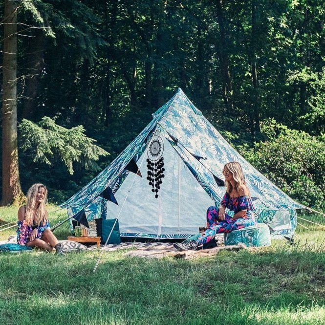 3m Weekender Polyester Bell Tent - Palm Leaf