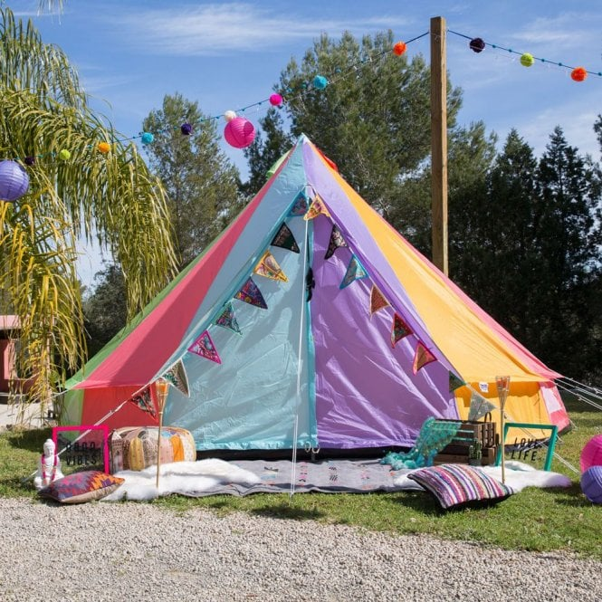 3m Weekender Polyester Bell Tent - Rainbow