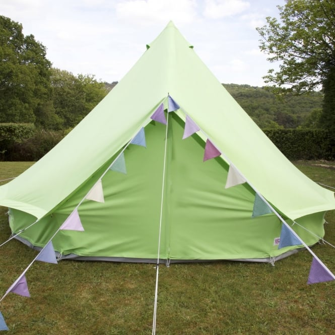 4m Apple Green Bell Tent With Zipped in Ground Sheet