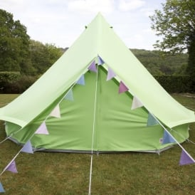 Boutique Camping 4m Apple Green Bell Tent With Zipped in Ground Sheet