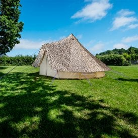 4m Bell Tent Protector Cover - Leopard Print