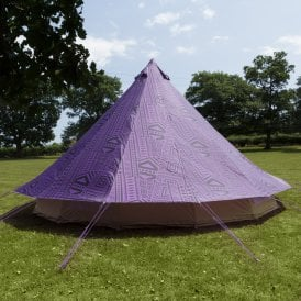 Boutique Camping Tents 4m Bell Tent Protector Cover - Purple Rain