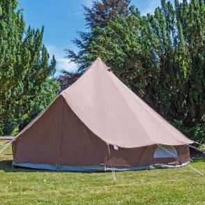 Boutique Camping 4m Chocolate Brown Tent With Zipped in Ground Sheet