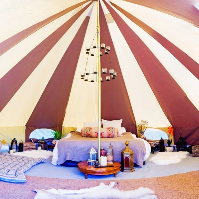 Cookies And Cream Bell Tent Boutique Camping Classy Bell Tent Decor